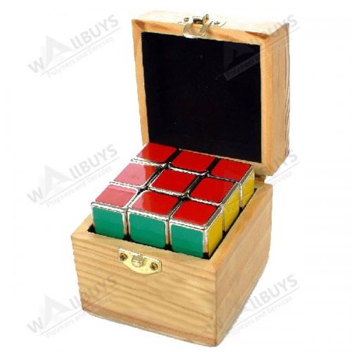 wooden box cube'