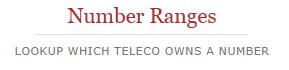 Number Ranges'