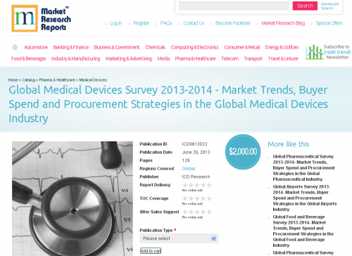Global Medical Devices Industry 2013-14 Survey'