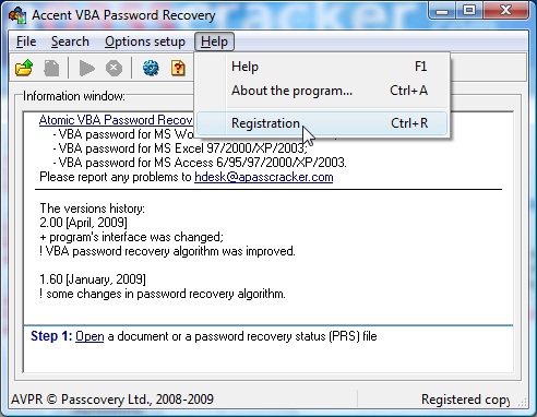 Atomic VBA Password Recovery Screenshot'