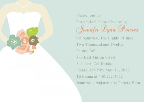 Bridal shower invitations at Elegant Wedding Invites'