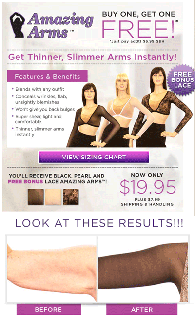 amazing arms slimming wear'