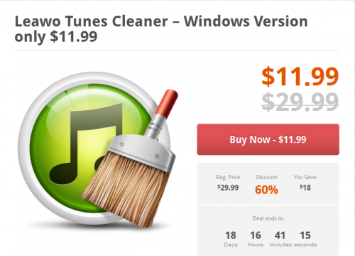 Leawo Tunes Cleaner Deal'