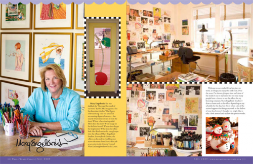 Opening spread of Mary Engelbreit's feature article in Where'