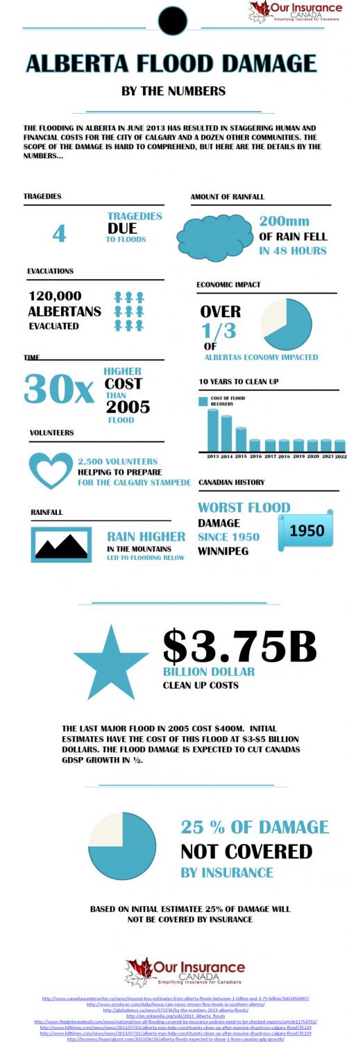 Alberta Flood Damage Infographic'