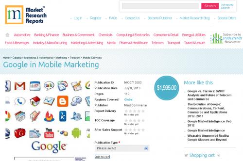 Google in Mobile Marketing'