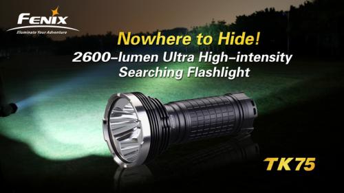 Fenix TK75 3xCREE XM-L U2 2600 LM Flashlight'