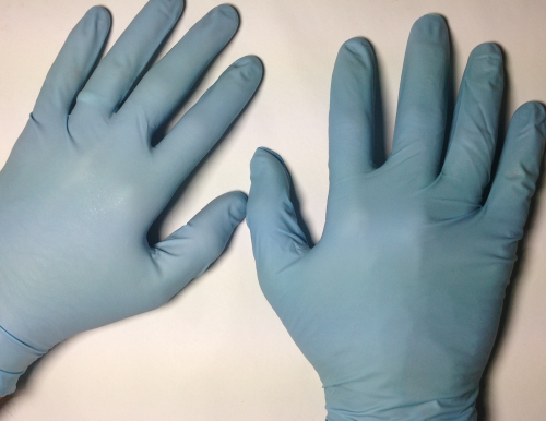 Nitrile Gloves treated with ENSO RESTORE RL'