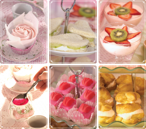 Images of recipes from the Princess Tea Party Book'