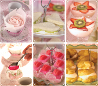 Images of recipes from the Princess Tea Party Book
