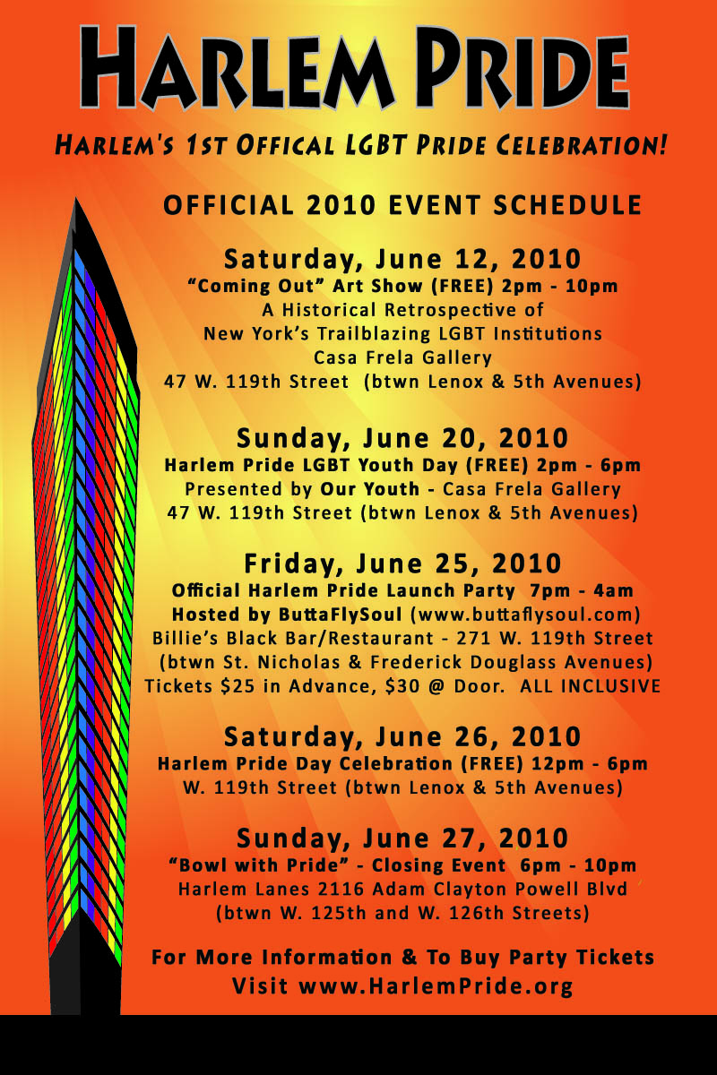 Harlem Pride 2010 Official Event Schedule