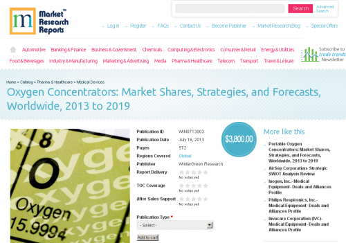Oxygen Concentrators: Market Shares, Strategies, Worldwide'