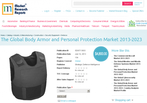 Global Body Armor and Personal Protection Market 2013 - 2023'