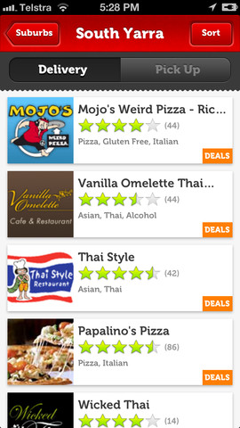 Eat Now Mobile App