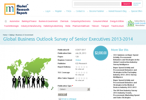 Global Business Outlook Survey of Senior Executives 2013- 14'