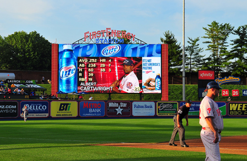 Lighthouse LED Display at FirstEnergy Stadium in Reading, PA'