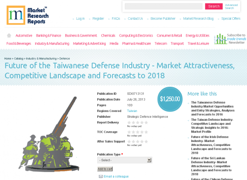 Future of the Taiwanese Defense Industry - Market Attractive'