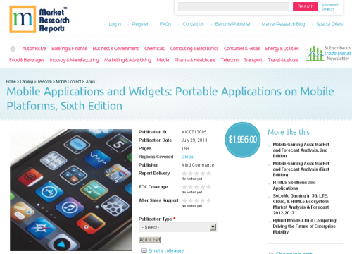 Mobile Applications and Widgets: Sixth Edition, Launched'