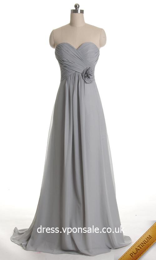 Long Strapless Bridesmaid Dresses'