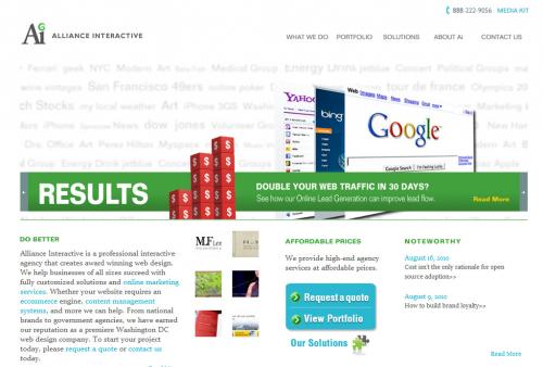 Alliance Interactive Website'