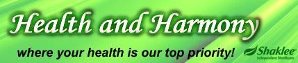 Logo for Health and Harmony'