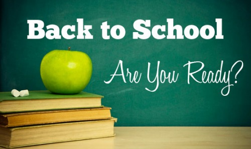 Back to School Are You Ready'
