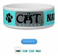 Customizable cat bowl