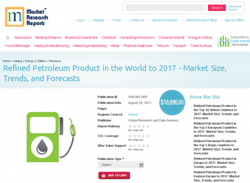 Refined Petroleum Product in the World to 2017'