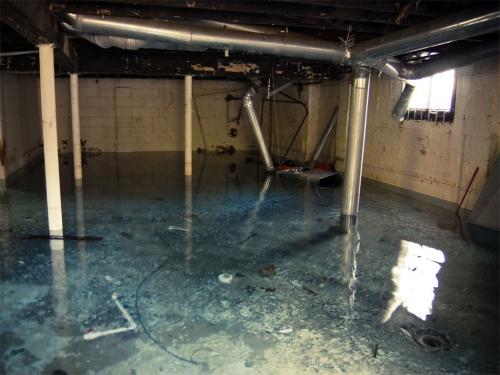 Flooded basement'