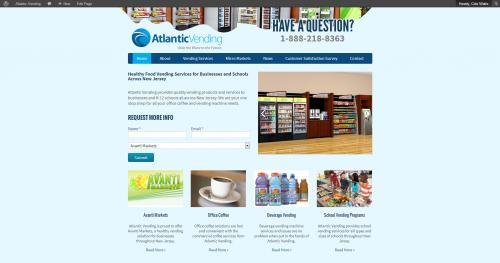 Atlantic Vending launches new website.'