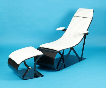 Carbon Fiber Lounge Chair and Ottoman'