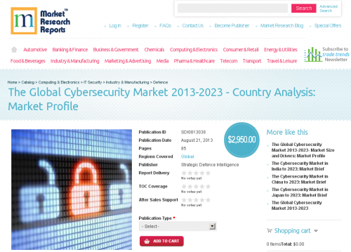 Global Cyber security Market 2013-2023 - Country Analysis'