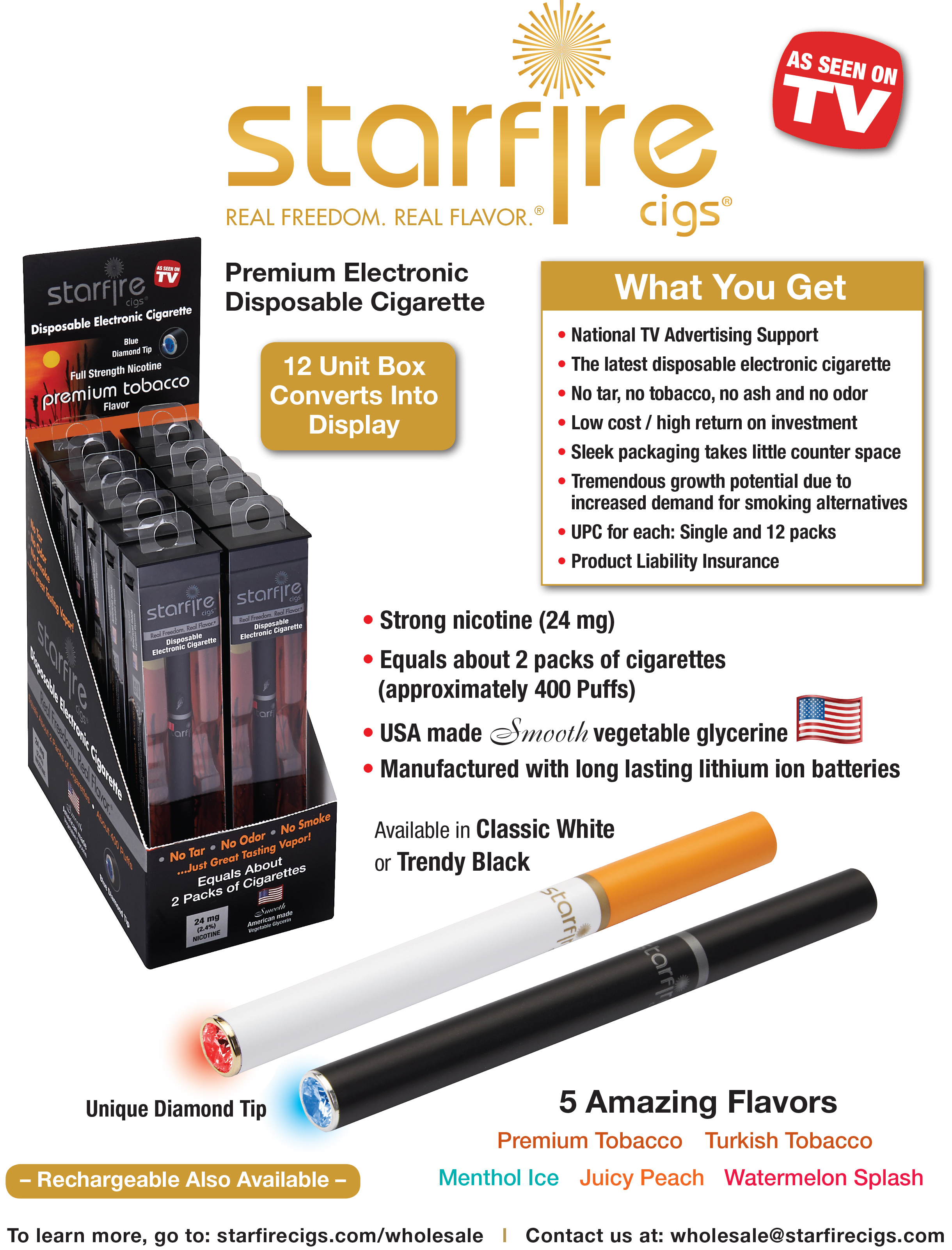 Starfire Cigs Premium Disposable Electronic Cigarettes