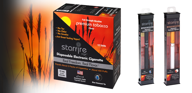 Disposable Electronic Cigarettes from Starfire Cigs, Tobacco