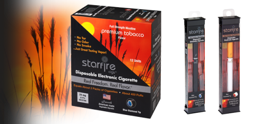 Disposable Electronic Cigarettes from Starfire Cigs, Tobacco'