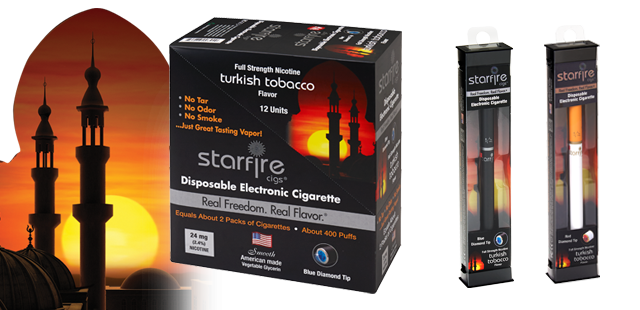 Disposable E-Cigarettes from Starfire Cigs, Turkish Tobacco