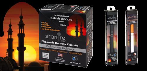 Disposable E-Cigarettes from Starfire Cigs, Turkish Tobacco'