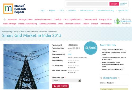 Smart Grid Market in India 2013'