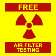 radiation air filter testing