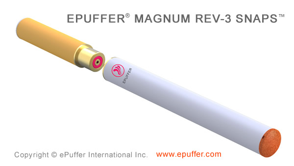 ePuffer MAGNUM REV-3 Ecigarette using SNAPS technology