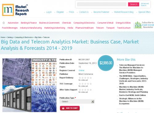 Big Data and Telecom Analytics Market 2014 - 2019'