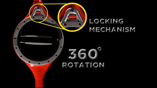 The ergonomic rotating grip - Bosse Tools shovels'