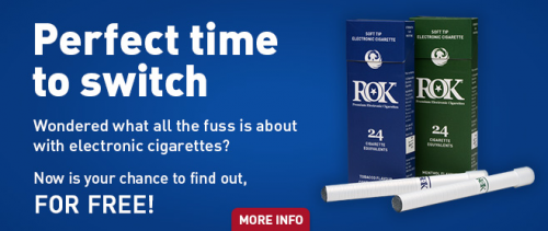 Perfect time to switch to electronic cigarettes'