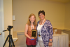 Missy Gurmankin and Karen Docimo with plaque'