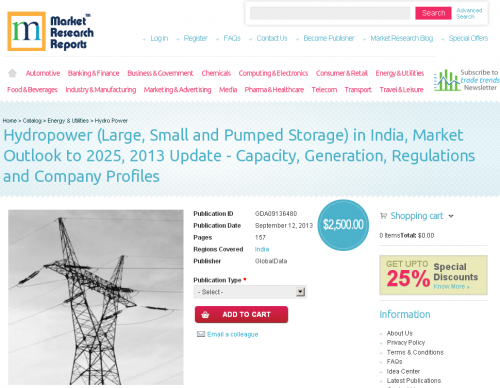 Hydropower Market Outlook in India to 2025'