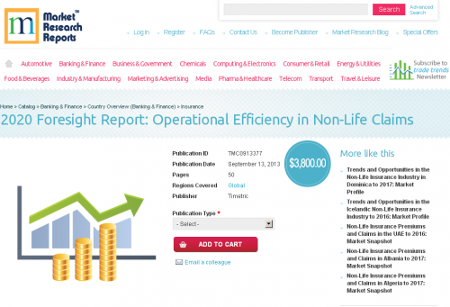 Operational Efficiency in Non Life Claims'