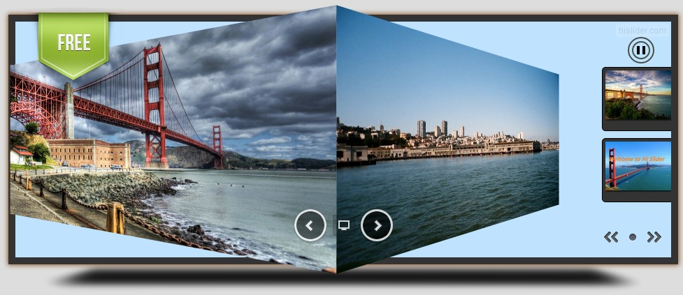 free jQuery HTML5 Slider Created in Hi Slider