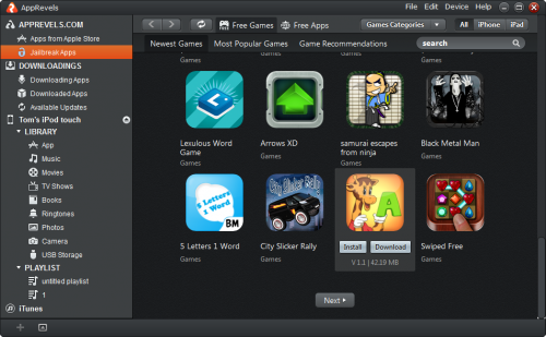 Apprevels 1.1 screenshot'