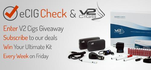 V2 Cigs e-cigarette giveaway'