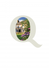 Quality Cottages logo with image'